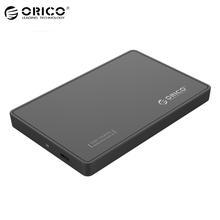 ORICO 2.5 Inch SATA3.0 To Type-C USB 3.1 Gen1 HDD Enclosure Type-c Hard Disk Box [Support UASP & 2TB 9.5mm HDD&SSD]-Black