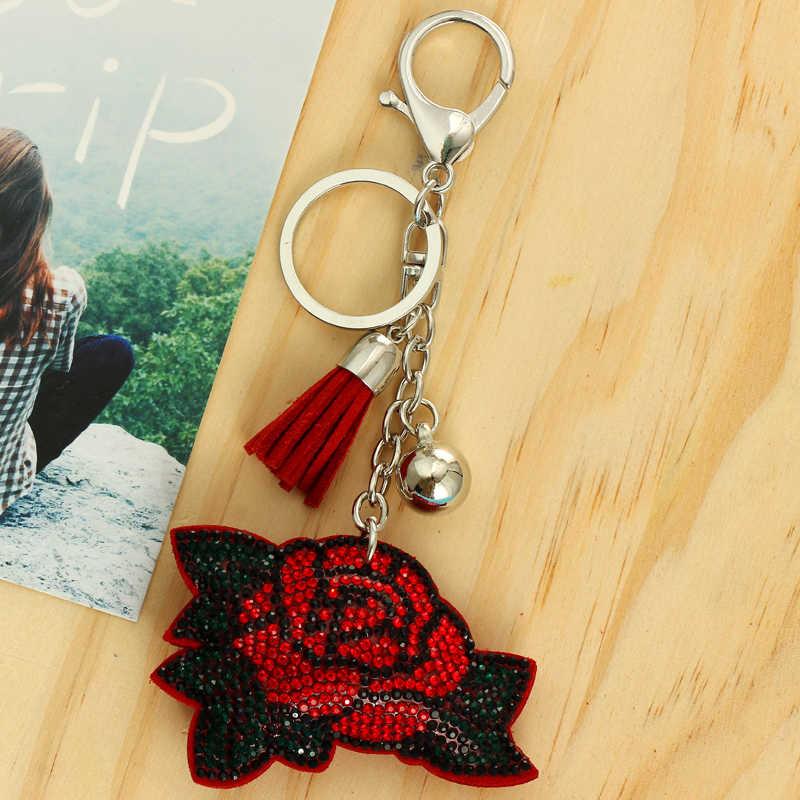 ZOSHI розы кулон Брелоки для ключей серебряные цепочки для ключей держатель кошелек сумка автомобиля рождественский подарок брелок ювелирные изделия llaveros оптовая продажа