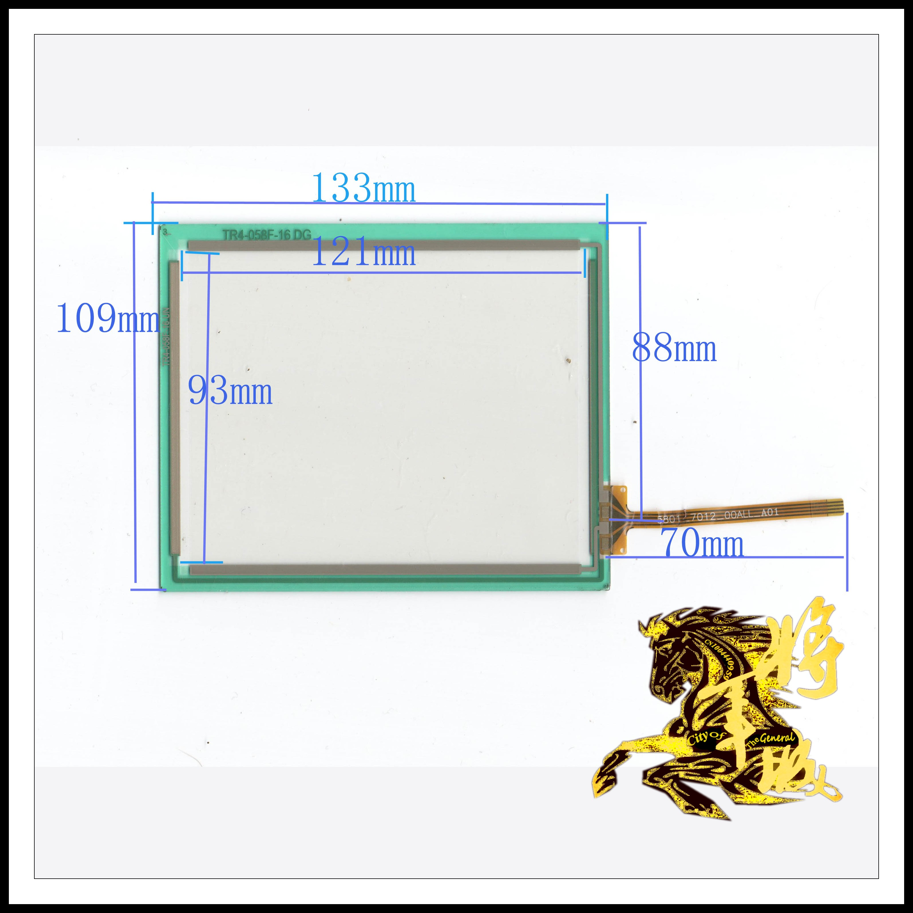 GENCTY For 5.8-inch four-wire resistive touch screen 133 * 109 W-Y