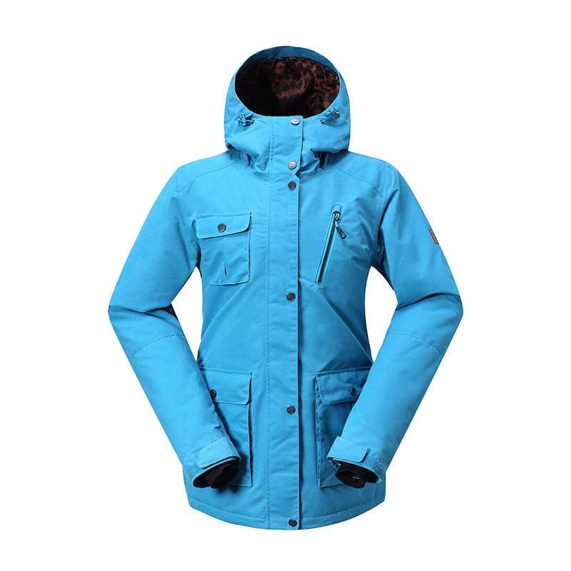 GSOU SNOW Lady combinaison de Ski imperméable coupe-vent respirant chaud Double simple planche veste de Ski Ski coton vêtements taille XS-L