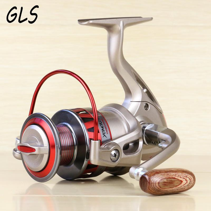 Full metal spool rocker arm 10BB 5.5:1 Rotate the spool Fish line wheel 1000-7000 series fishing reel