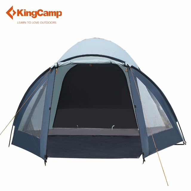 KingCamp Large Tent Fire-resistant 3-Person Camping Tent Waterproof 3-Season Outdoor Tent for Family Camping Backpacking