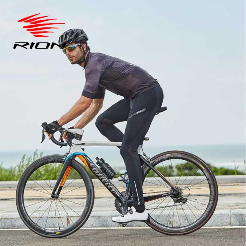 RION Cycling Jersey Long Gel Padded Pants Men Clothing Uniforme Ciclismo MTB Mountain Bike Downhill Bicycle
