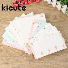 Kicute 40 sheet/pack A6 A5 Lovely Refills Spiral Notebook Inner Pages 6 holes Loose Leaf Binder Paper Planner Filler Paper(China)
