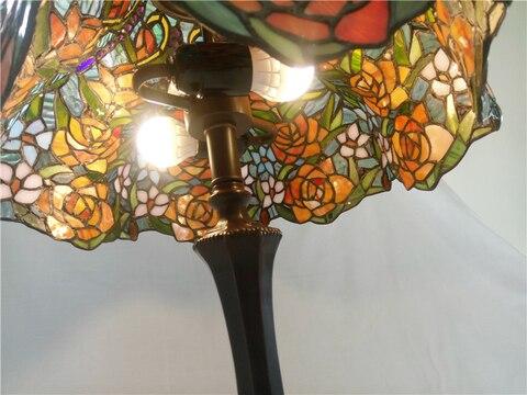 fumat vitrais lampada de mesa europeu criativo