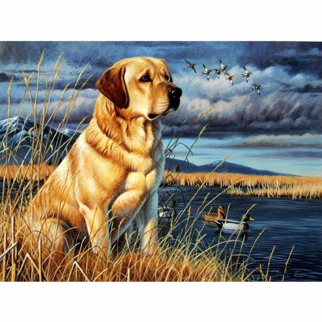 Dog DIY Painting for Home Decoration