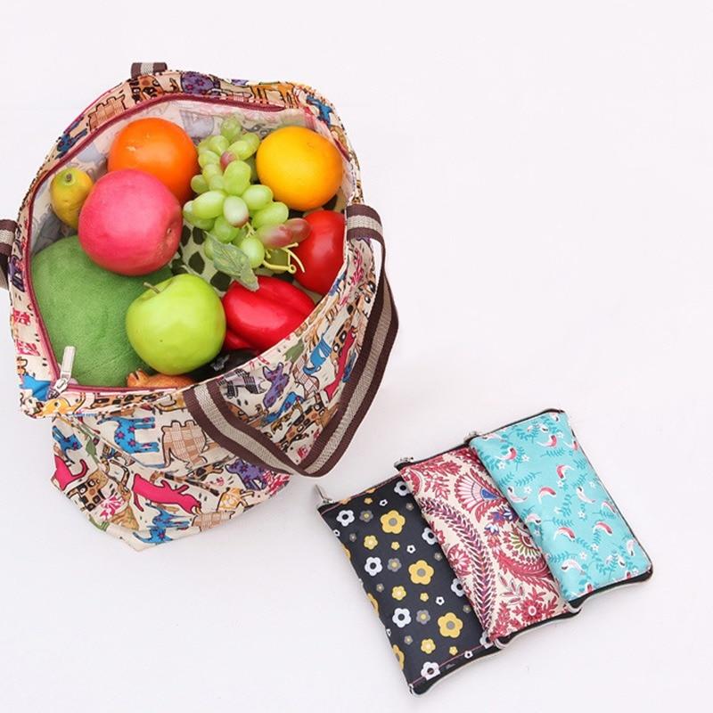 Women Handbags Large Capacity Foldable Shopping Bag Travel Tote Reusable Shopping Bag Foldable Grocery Bags