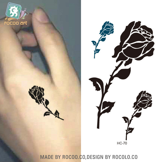 5 Pcs The Male And Female Tiger Tattoo Stickers Waterproof Rose