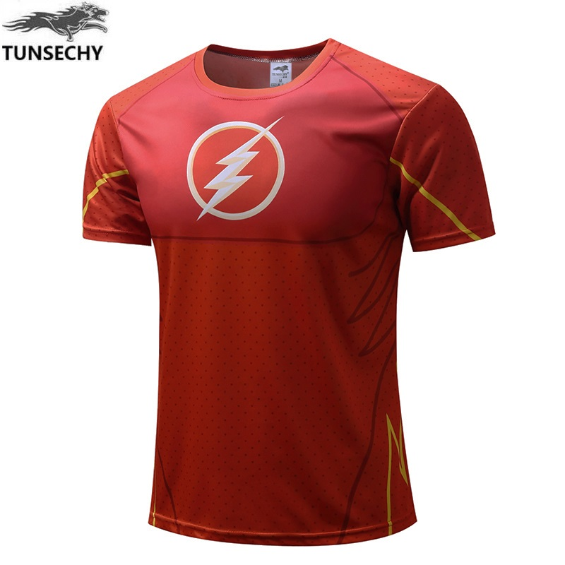 2017 Top Sales Superhero T shirt Tee Superman Spiderman Batman Avengers Captain America Ironman Style Clothing XS-4XL