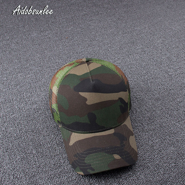 2017 New Arrival MEN'S HATS Men Camo Baseball Caps Mesh for Spring Summer Outdoor Camouflage Jungle Net Ball Base Army Cap Hot 2
