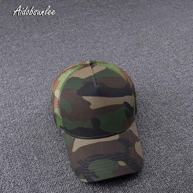 2017 New Arrival MEN'S HATS Men Camo Baseball Caps Mesh for Spring Summer Outdoor Camouflage Jungle Net Ball Base Army Cap Hot 2