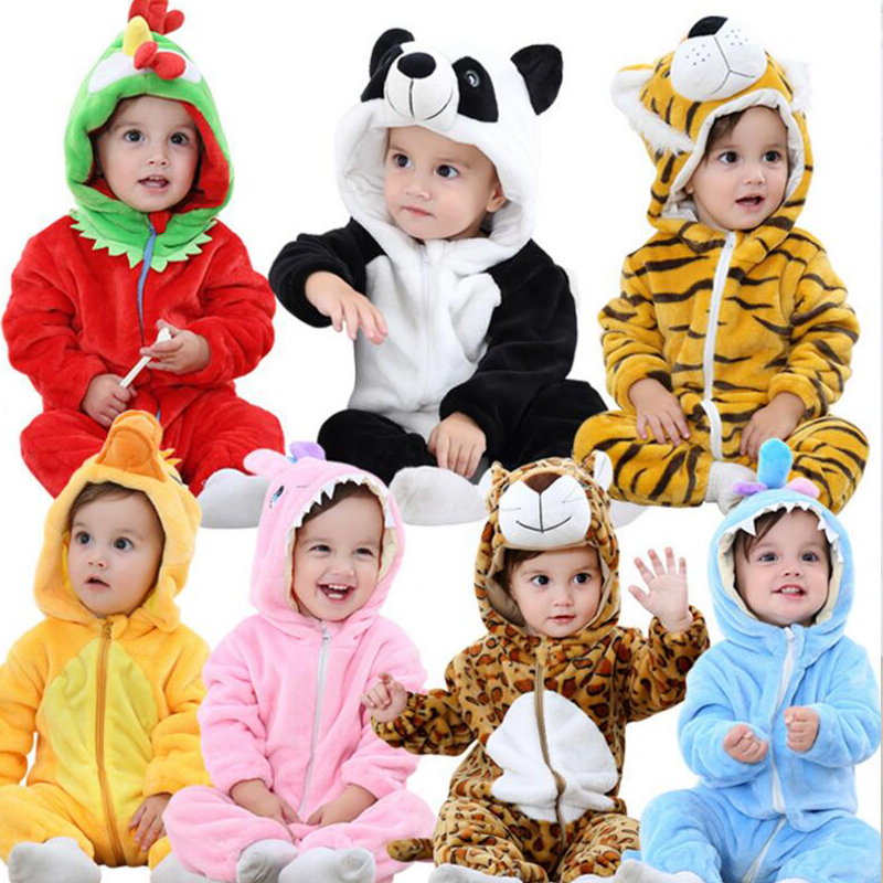 Newborn toddler infant baby girl boy romper halloween costume baby jumpsuit hooded cute Cartoon Novelty ccostumes fall winterQY ...