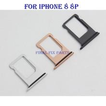 Taca karty Sim dla iPhone 8 8G 8 Plus 8 P Adapter karty Sim z wodoodpornym paskiem uchwyt gniazda karty Sim części zamienne tanie tanio HXEBGT Metal For Apple Other 1050