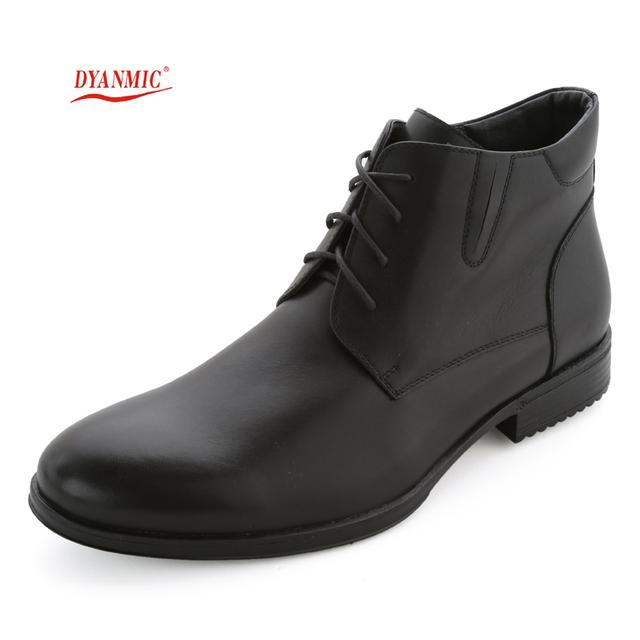 Hombres Botas de Cuero Genuino de Los Hombres Clásicos Negro Natural de Cuero con cordones Botas de Moto Masculinos Zapatos de Vestir de Tamaño Eur 40-45