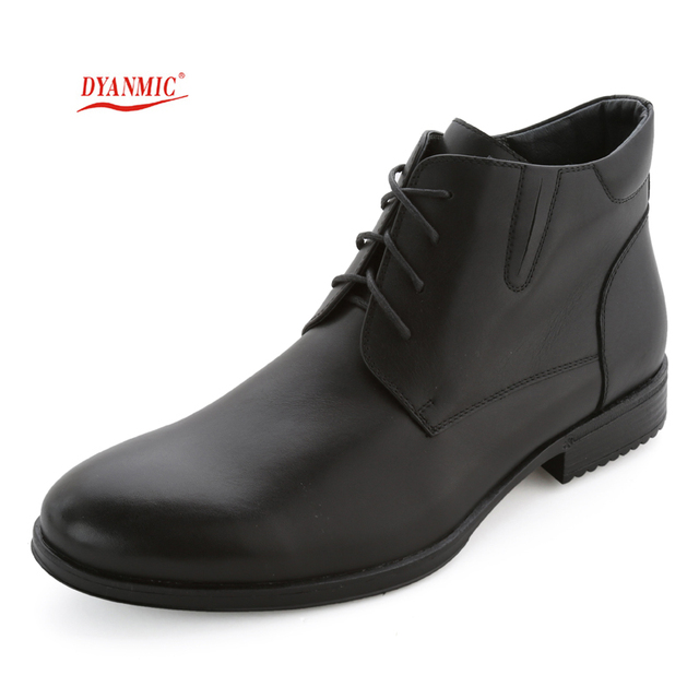 Men Genuine Leather Boots Men's Classics Black Natural Leather Lace-up Motorcycle Boots Male Dress Shoes Eur Size 40-45