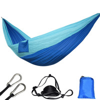 Ultralight Parachute Hammock 210T Nylon Durable Portable Outdoor Hanging Hamac For Backyard Double Person Hamak