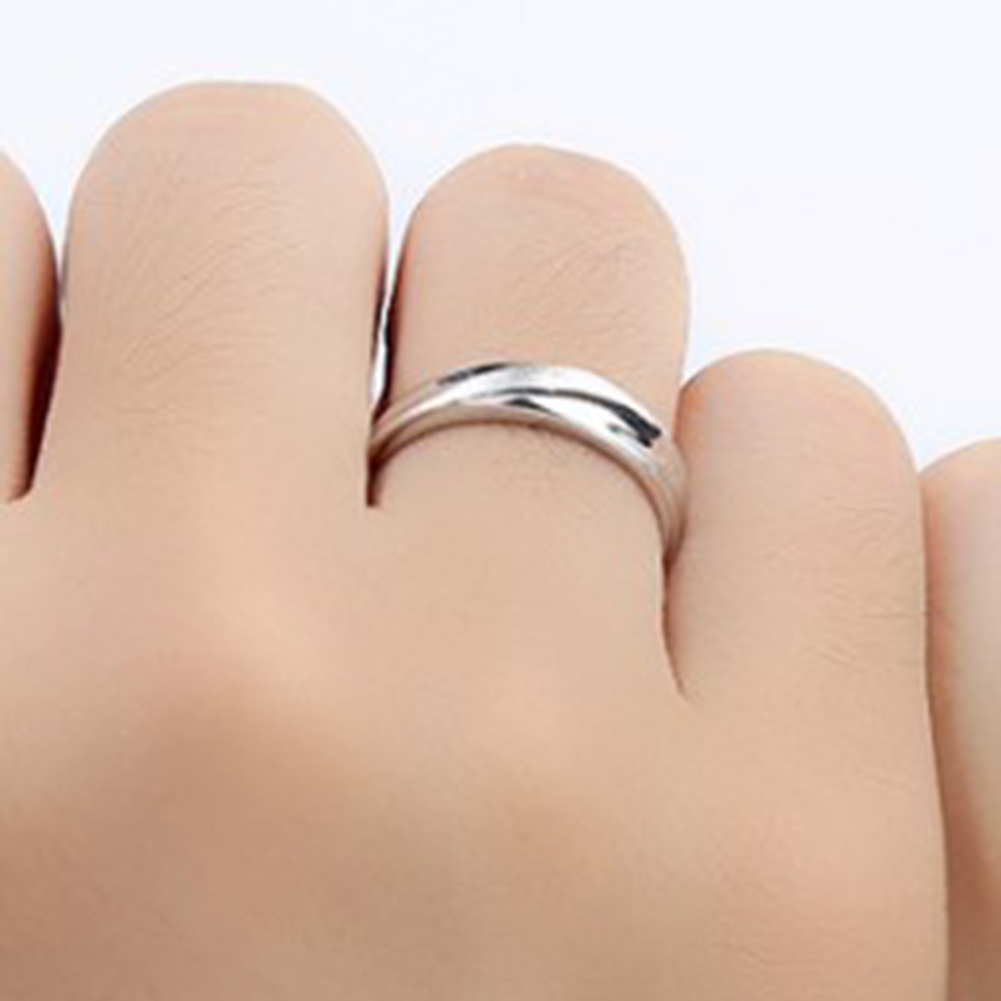 fashion lovers ring men and women simple crystal couple wedding ring Scrub living ring