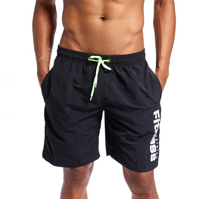 CCIVICFREE Board Shorts Men Breathable Sport Swimming Shorts Solid Color Elastic Waist Beach Shorts Summer Swim Shorts