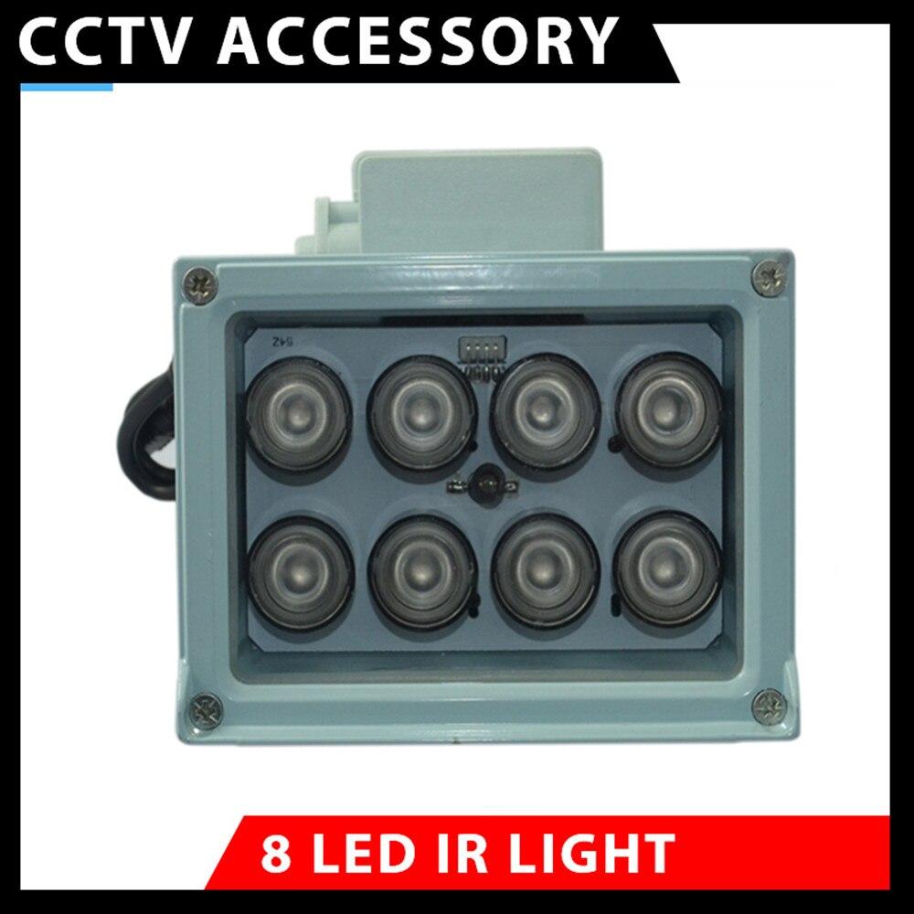 Lámpara de infrarrojos de alta potencia matriz LED iluminador de infrarrojos visión nocturna para cámara de vigilancia CCTV 850nm impermeable interruptor automático