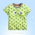 Algodón Marca Bebé Niños camiseta Del Verano de Manga Corta Impresa Cuello Redondo ropa Para Niños Kids Tee Tops 18 mths-6 años