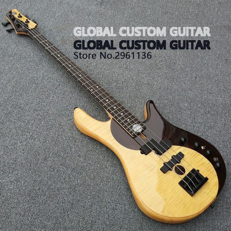 Fabbrica di alta Qualità custom shop Farfalla Bass, bass guitar Butteryfly Deluxe Electric bass guitar yin e yang bass