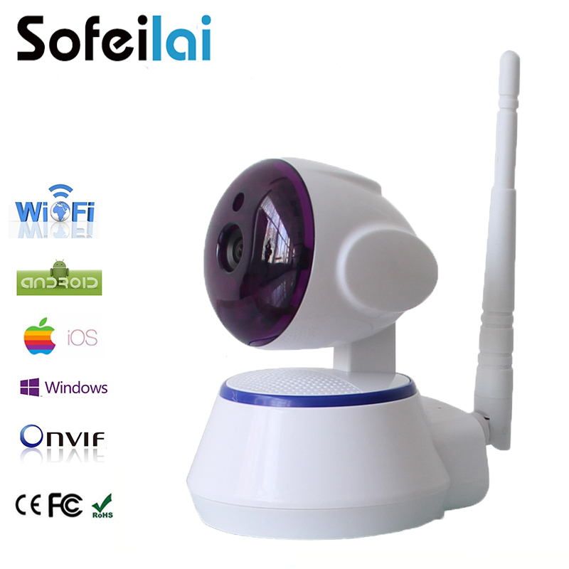 Sofeilai 720P Ip Camera Wifi Sd Card Yoosee P2P Home Security Monitor Smart Wireless CCTV Camera HD Lens Infrared Two-way voice jcwhcam 720p ptz wifi ip camera wireless home security cctv surveillance camera p2p ir infrared two way audio baby monitor