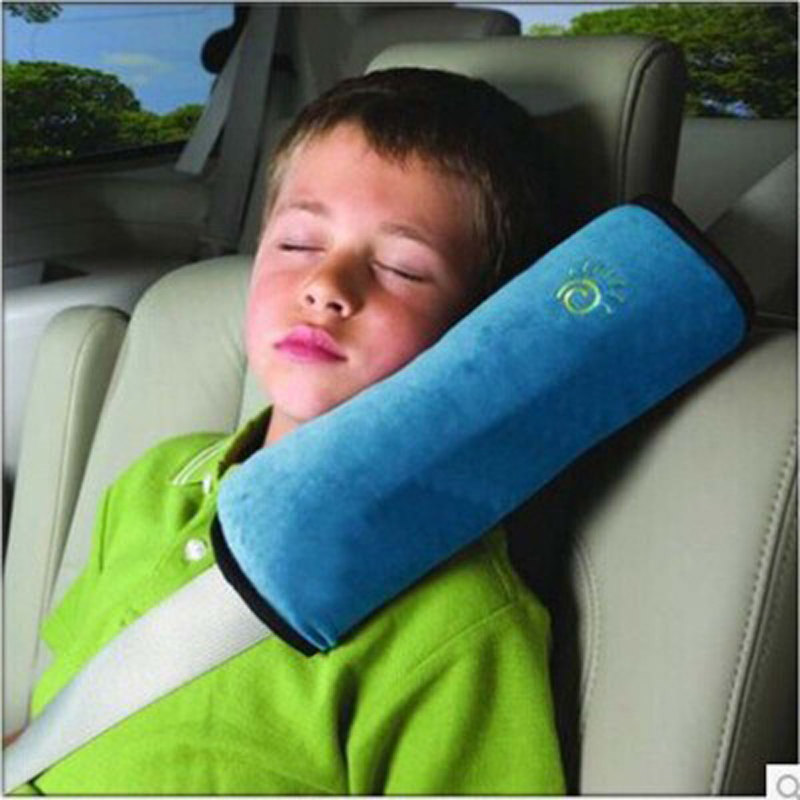 Child seat belts shoulder car seat belts suede baby sleeping Pillow