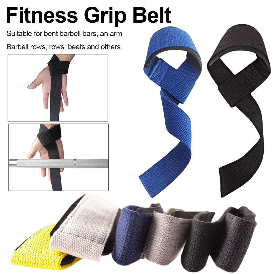 Knee Wraps Weight Lifting Body Building Gym Training Support Leg Wrist Straps