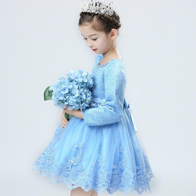 Girls princess Tutu autumn long sleeved lace embroidery dress Princess Dress princess princess 142650 тостер