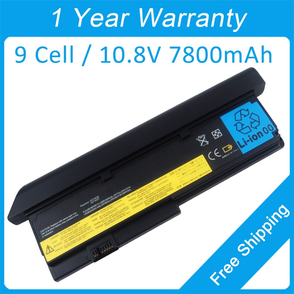 9 cell laptop battery for lenovo ThinkPad X201 X200 7458 43R9254 42T4542 43R9255 FRU 42T4536 42T4538 42T4540 genuine original laptop battery for lenovo thinkpad p70 series fru 00hw030 ams fb10f46468 15v 6 4ah 96wh 4icr18 65 2