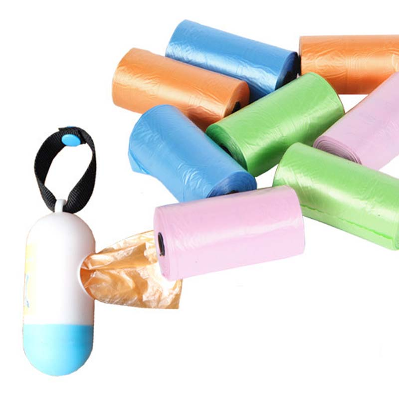 Mini Disposable Nappy Sack /& Holder Portable Baby Diaper Disposal Bag W//1 Roll