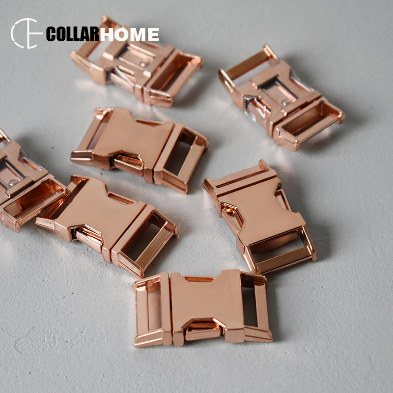 50pcs Plated metal side release buckles for DIY bag parachute cord dog pet collar accessories 3 4 quot 20mm manufacture zinc alloy in Buckles amp Hooks from Home amp Garden