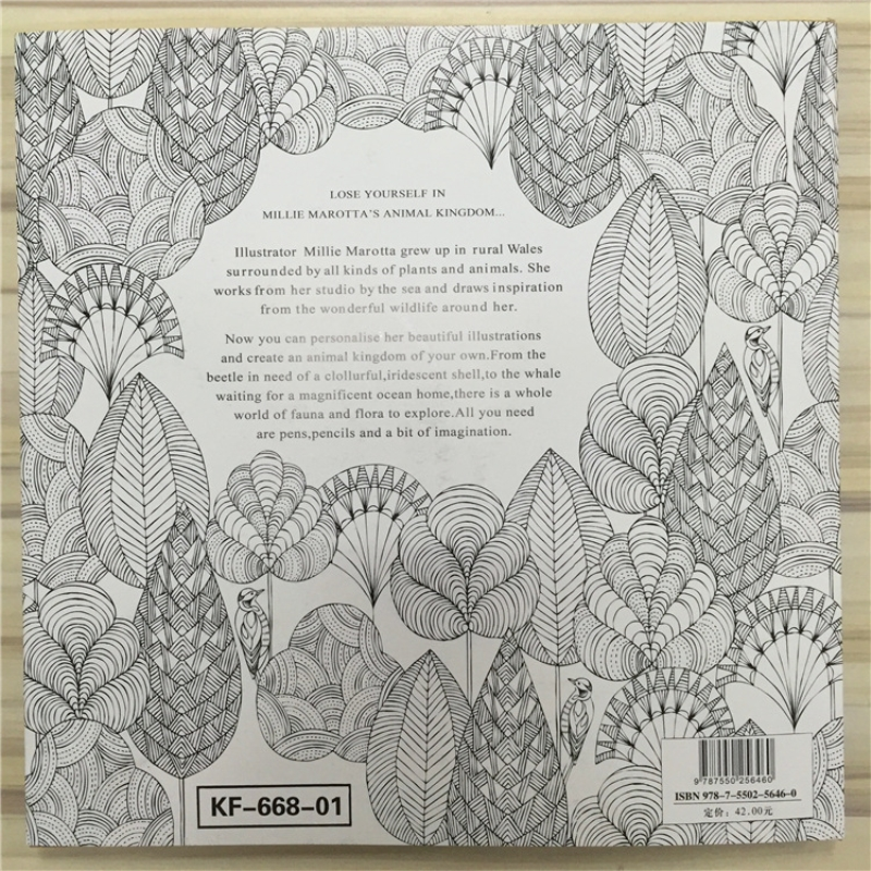 Animal Kingdom Book Coloring Books For Adult Kids Painting