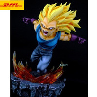 10 Dragon Ball Statue Vegeta Bust Full Length Portrait Son Goku GK 1/6 Action Figure Collectible Model Toy BOX 25 CM Z443