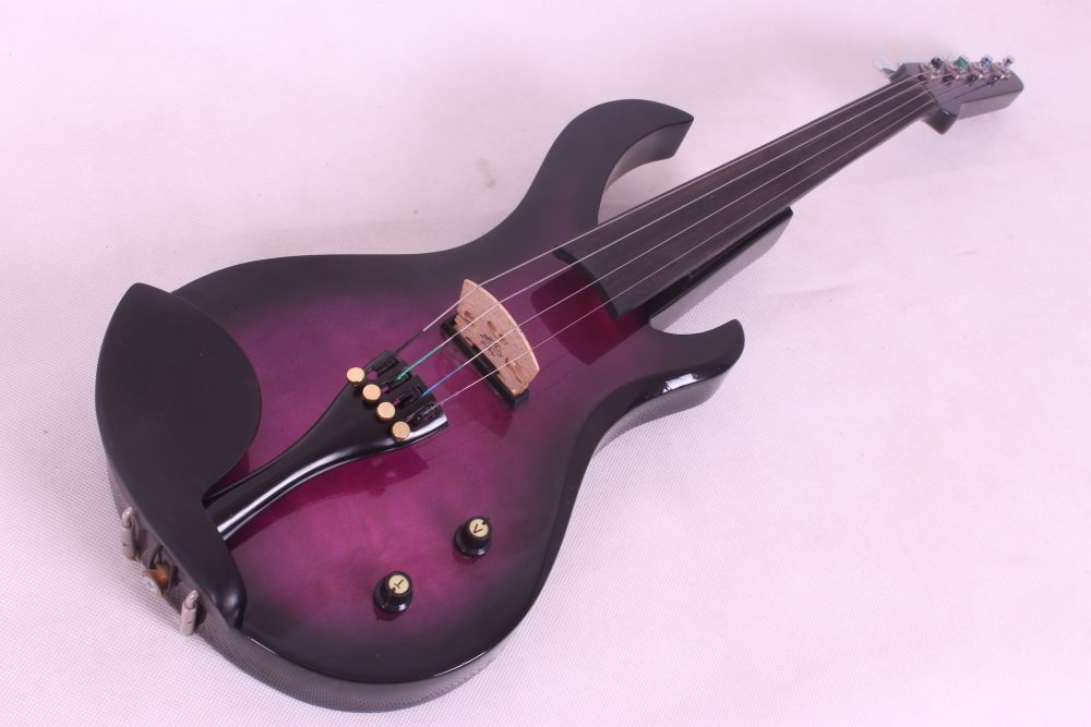 4 String Electric Violin Guitar Shape Big Jack Pickup 4/4 New #20 5