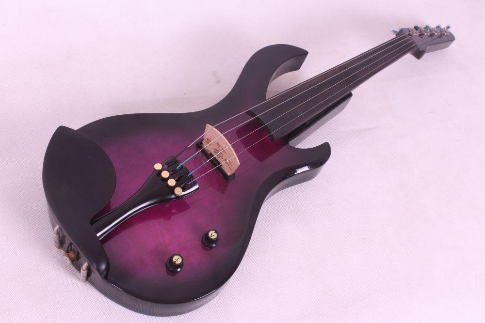 4 String Electric Violin  Guitar Shape Big Jack Pickup 4/4 New #20-5 6 string electric violin new 4 4 flame guitar shape solid wood powerful sound6 611