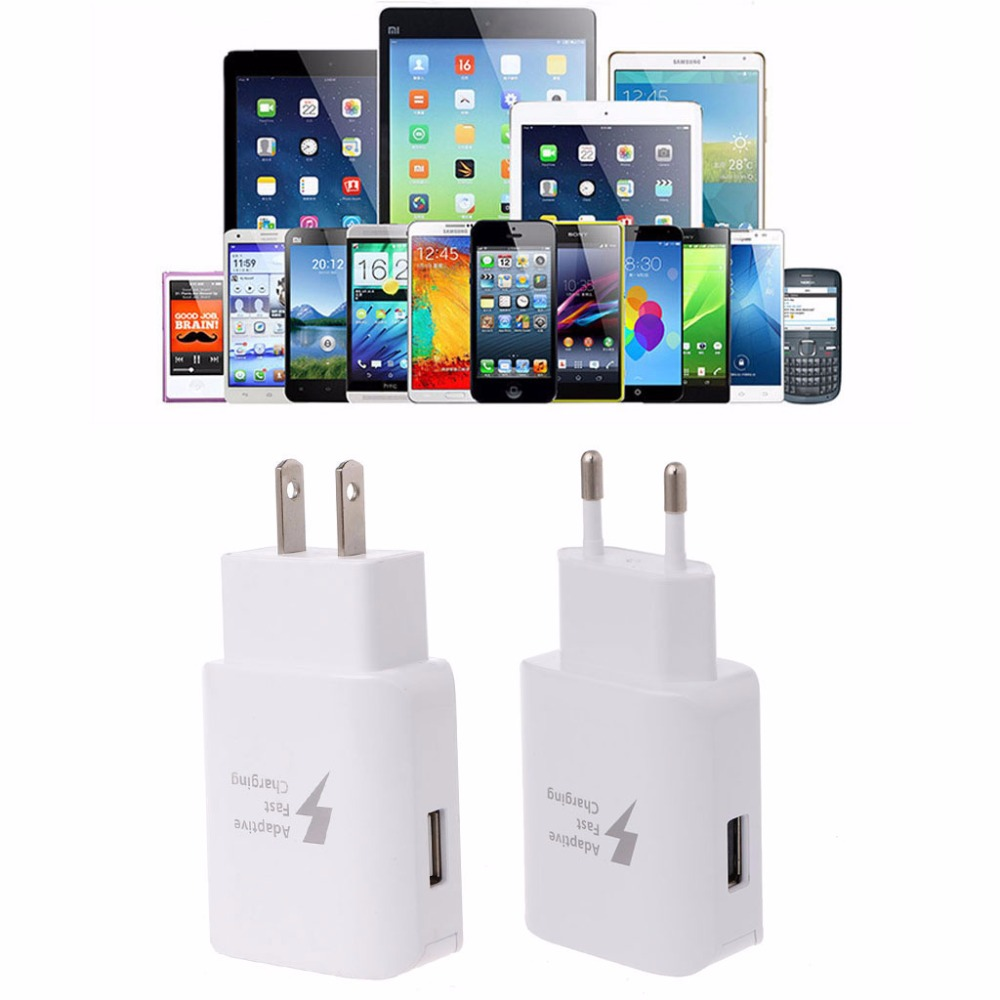 Adaptive QC3.0 Fast Charging USB Travel Wall Charger EU/US Plug For Samsung Galaxy S8 Tablet Smartphone-T4ME