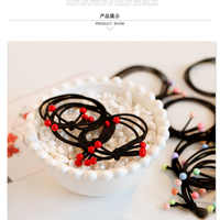 100pcs/Rubber Band Hair Ring Red Beads Adult Children Universal Tie Hair Band High Elastic New Hair Accessories