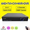 Blue-Ray Hisiclion Chip Caixa De Metal DVR 4 Canal 4CH 25fps 1080 P/1080N/960 P/720 P 5 em 1 Híbrido NVR CVI TVi AHD DVR Frete grátis