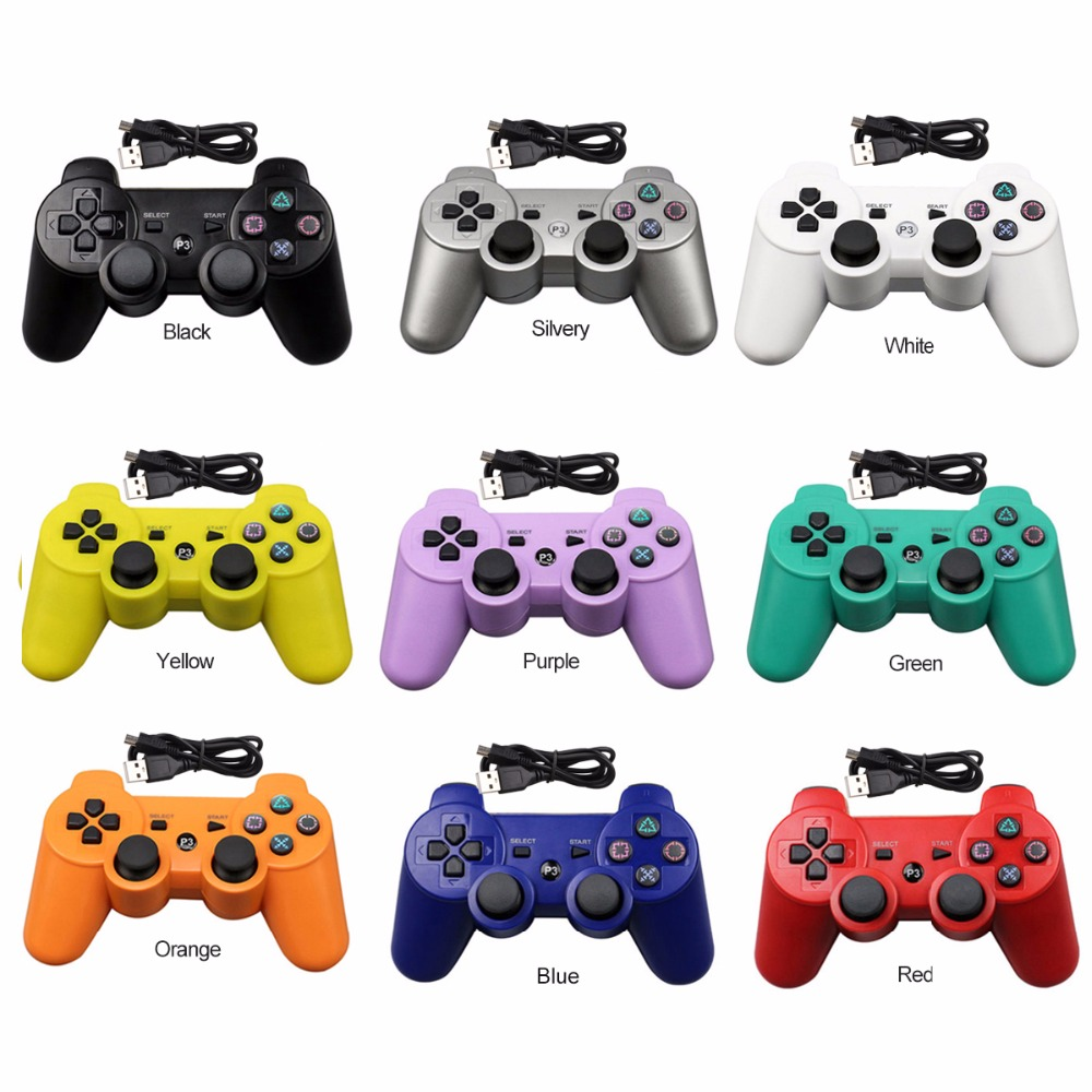 New USB Wired Gamepad Controller Joystick For PS3 Playstation 3 console For PS3 pc For Dualshock Gamepad Joystick USB Gamepad dilong p3950 usb 2 0 wired flight joystick for computer ps3 black silver