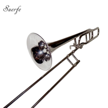 Professional Tenor trombones BbF key Silver plated Finish Brass Body with Foambody case musical instruments wholesale цена