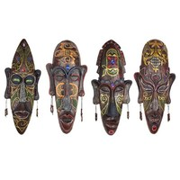 Retro Wall Hanging Decoration African Masks Wall Decor Miniature Figurines Resin Craft Home Decor Art Sculpture Gift 34cm R1073