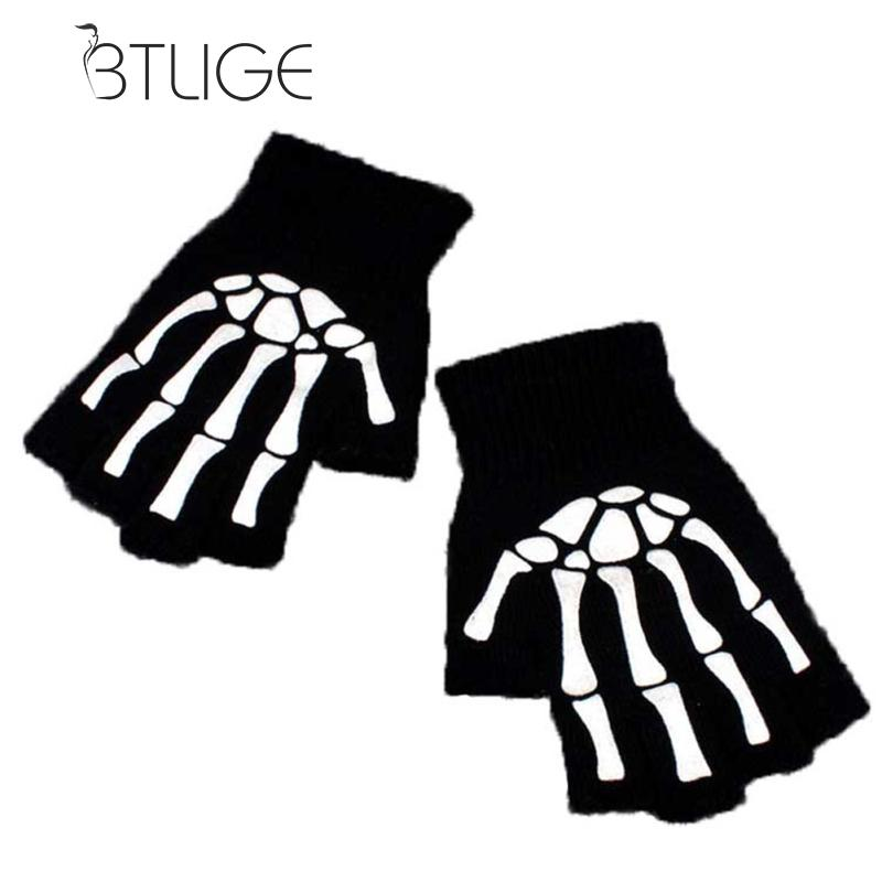 BTLIGE Half Finger Biking Gloves Men Women Anti-skip Hiking Cycling Fishing Skull Gloves