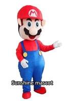 Adult Super Mario Mascot Cartoon Mascot Costume Fancy Dress Free Shipping