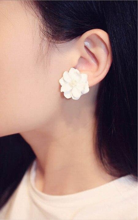 Classics Big White Flower kõrvarõngad naistele Fashion Jewelry - Mood ehteid - Foto 6