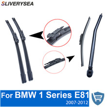 QEEPEI Front and Rear Wiper Blade Arm For BMW 1 series E81 2007-2012 3 Door Hatchback High quality Natural Rubber Windscreen