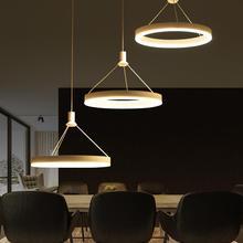 Кольцо led подвесные светильники столовая гостиная bedroomroom современный минималистский атмосфера моды теплый подвесные светильники