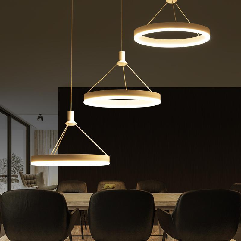 ring led pendelleuchten esszimmer wohnzimmer bedroomroom moderne minimalistische mode atmosphre warm pendelleuchtenchina mainland - Moderne Kreative Esszimmer