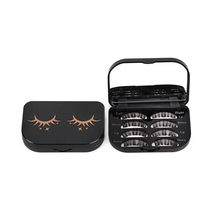 New 1PC rectangle Cute Magnetic False eyelashes Storage Box Makeup Cosmetic Mirror Case Organizer Makeup Tool Kit High Quality(China)