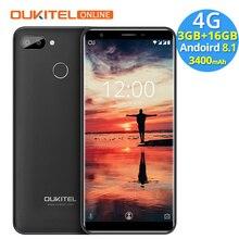 Oukitel C11 Pro 4G 5.5 Inç 18:9 Android 8.1 Cep Telefonu MTK6739 Dört Çekirdekli 3G RAM 16G ROM 8MP + 2MP 3400 mAh Parmak Izi Sm...